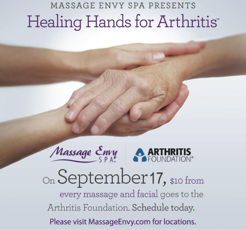 Healing Hands for Arthritis @ Various Massage Envy Locations